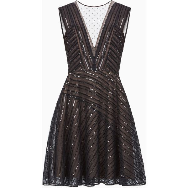 Aniya Sequined Dress ❤ liked on Polyvore featuring dresses, bcbgmaxazria dress, sequin dress, bcbgmaxazria and sequin embellished dress