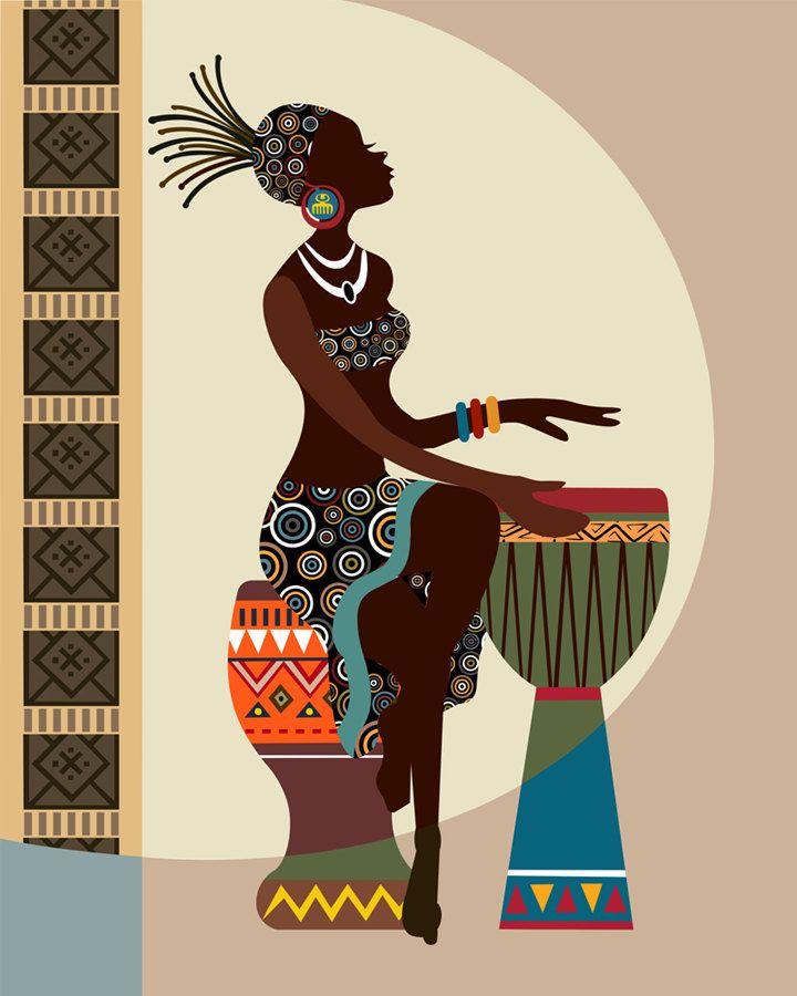 Arte africano americano africano la pared arte mujer