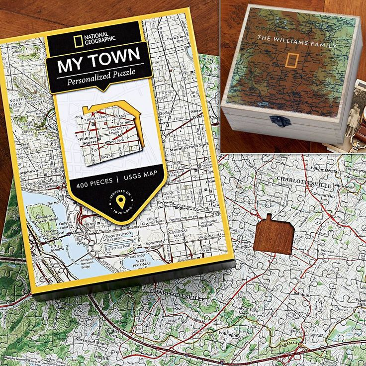 Middle East Map National Geographic%0A Nat Geo   My Town   Custom USGS Map Puzzle Gift Set  National Geographic  Store