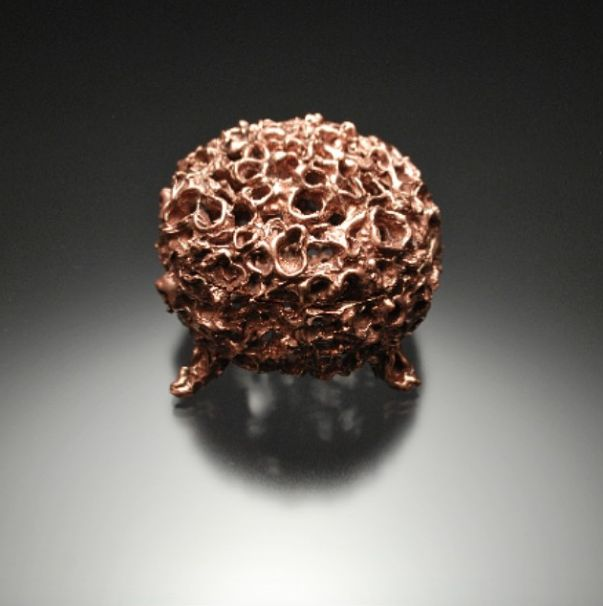 Coral jewelry box. Copper cast. Incredible. Would by everything he makes (Joe Anglim jewelery)