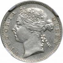 Straits Settlements. 10 Cents, 1901. NGC AU - Price Estimate: $125 - $175