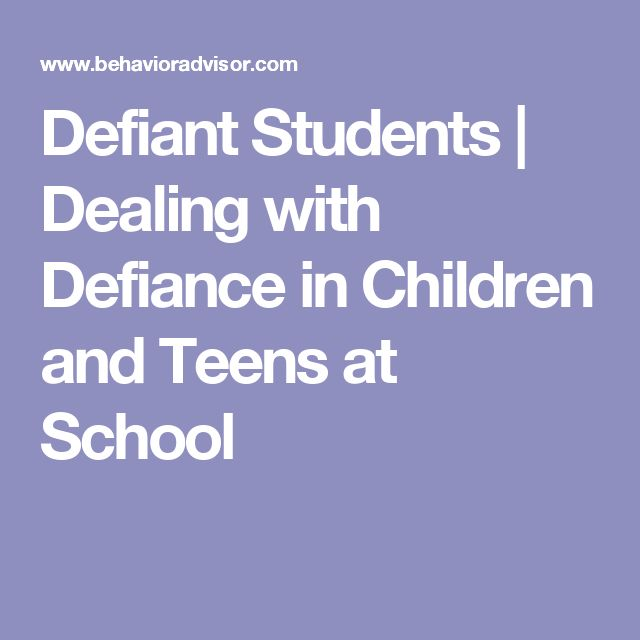 defiance in kids and how to work with them