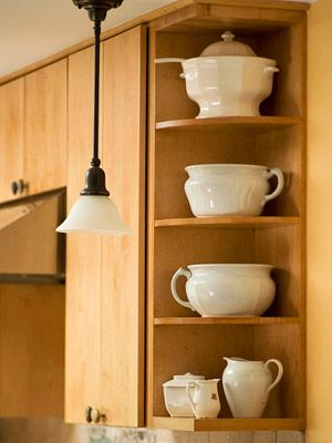 86 best images about cuisine on pinterest shaker cabinets white shaker cabinets and costco - Small space shelves concept ...