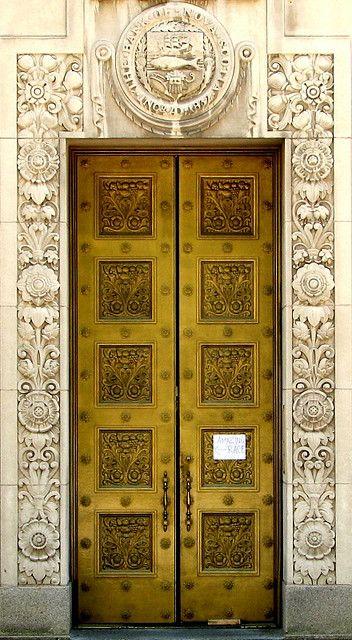 Brass bank door in Halifax Novia Scotia Canada & 524 best Architecture - Doors images on Pinterest | Castles Front ...
