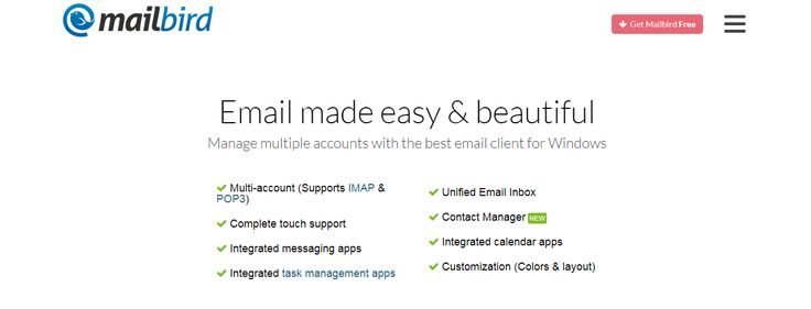 Best Email Clients. Find the best free email clients.  Mailbird and Mailbird alternatives