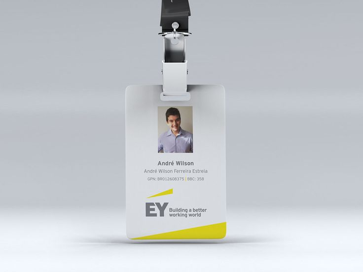 "Check out this @Behance project: ""EY - Corporate ID Badge"" https://www.behance.net/gallery/47720729/EY-Corporate-ID-Badge"
