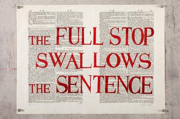 William Kentridge, The Full Stop Swallows the Sentence, 2012 -