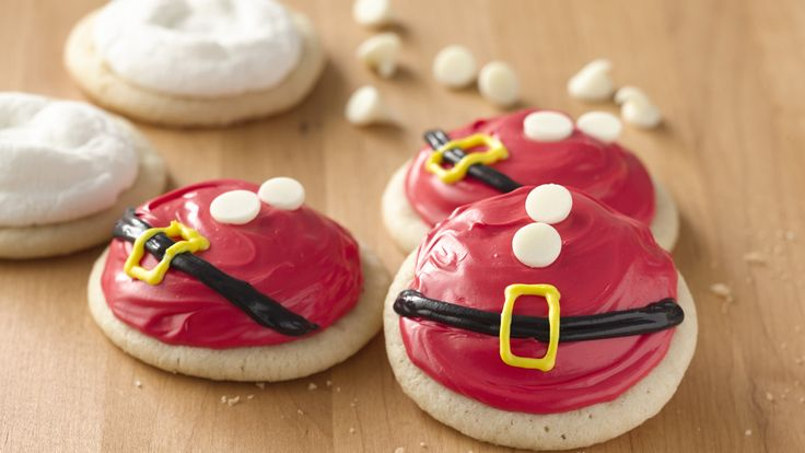 Santa's Belly Cookies recipe and reviews - These fun and festive cookies are sure to add a little bit of jolly to your holiday!  Also great to leave out for Santa and his helpers.