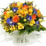 Freshly cut flowers make a great gift