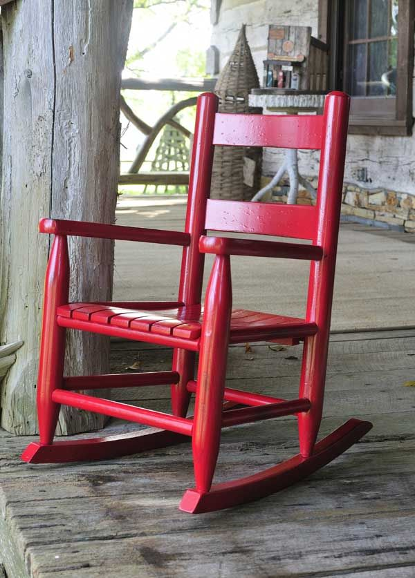 Bob Timberlake's original Child Rocker - every child needs a sturdy wooden rocking chair - and the RED color is just FUN