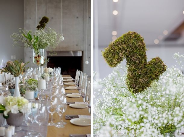DIY moss table numbers