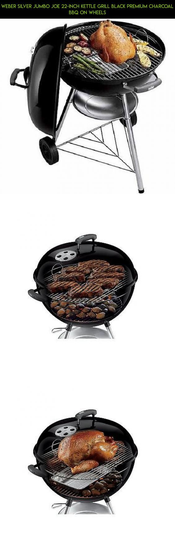 Weber Silver Jumbo Joe 22-Inch Kettle Grill Black Premium Charcoal BBQ On Wheels #gadgets #technology #plans #camera #bbq #kit #tech #drone #grills #products #shopping #racing #parts #fpv #charcoal