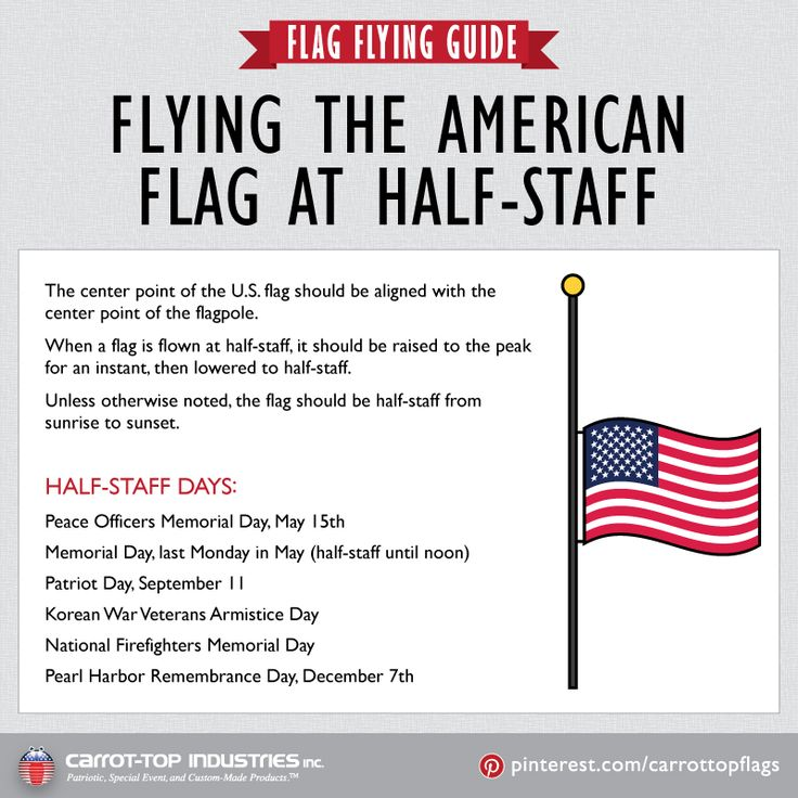 days flag should be at half mast