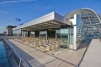 Restaurant in the Reichstag (Parliament.) Book an afternoon tea, bring a passport, and you can cut the line and visit the dome, beautiful view!