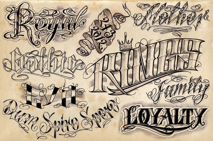 cursive writing fonts for tattoos