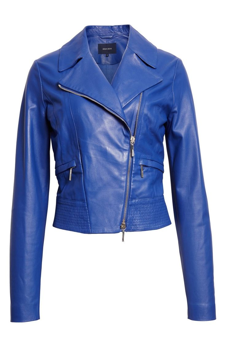 Main Image - Armani Jeans Nappa Leather Moto Jacket