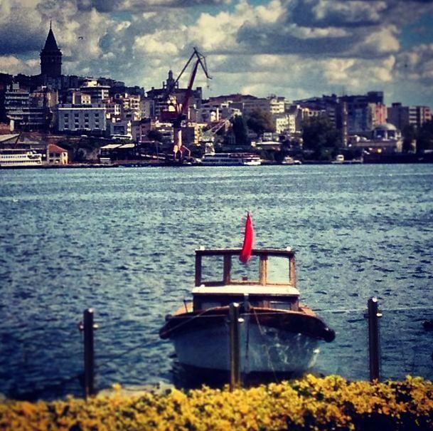 #istanbul #boat #galatatower #tower #cloud #goldenhorn #halic
