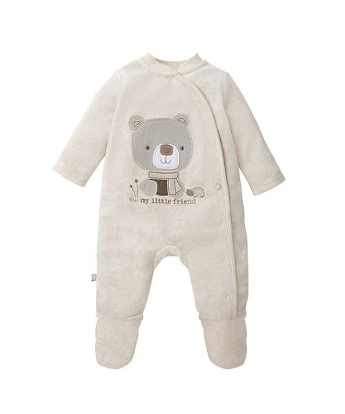 My Little Friend Velour All In One http://www.parentideal.co.uk/mothercare---baby-clothes.html