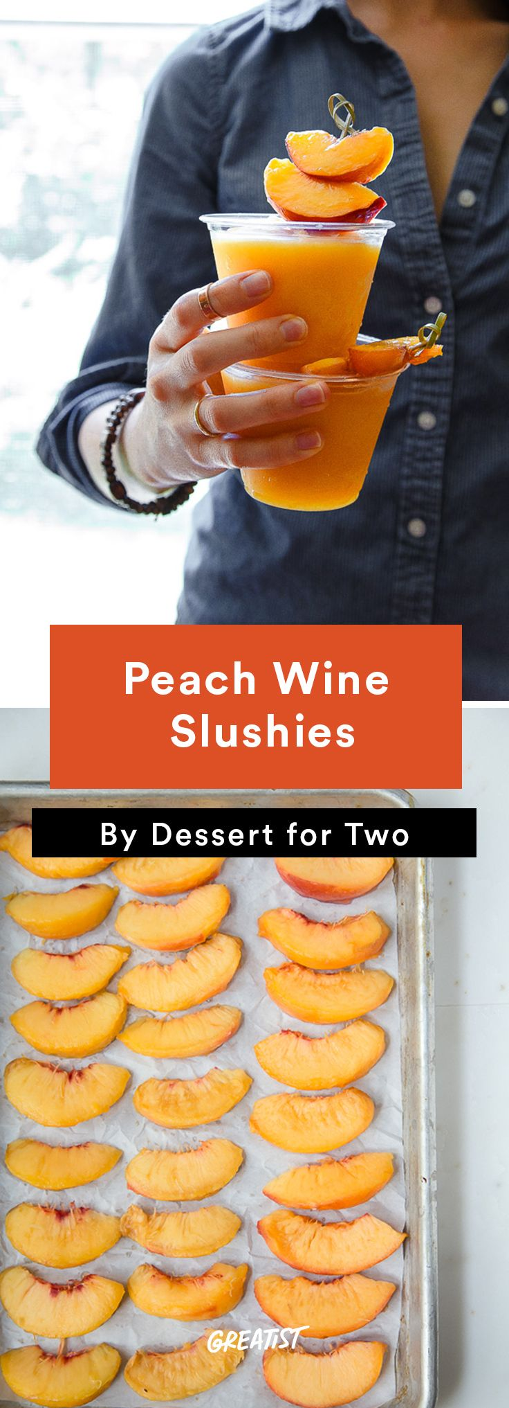 7. Peach Wine Slushies #cocktail #recipes http://greatist.com/eat/summer-cocktails-that-are-not-crazy-unhealthy