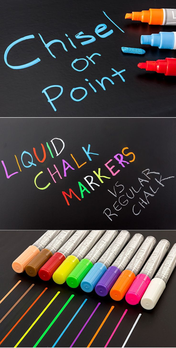 Create visually captivating works on any chalkboard using these liquid chalk markers. These water-based chalk pens are non-toxic and can be easily erased off non-porous surfaces so you can keep on creating when you run out of space. The Kassa Liquid Chalk Markers are the ideal tool for drawing or writing on chalkboards (best with …