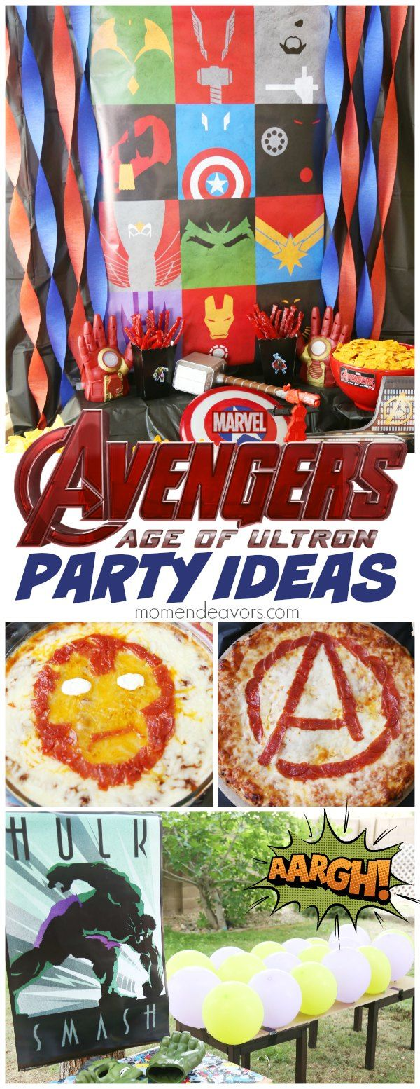 Awesome Avengers Superhero Party - fun decor, food, and activity ideas! #AvengersUnite sponsored