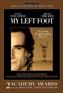 He learned to paint and write with his only controllable limb - his left foot.  Daniel Day Lewis is fantastic as Christy Brown, who was born with cerebral palsy.  True story.