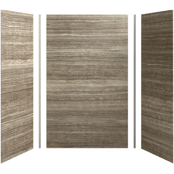 kohler choreograph fiberglass and plastic composite shower on shower wall panels id=45359