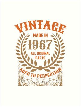 Vintage Made In 1967 Distressed Birthday Gift