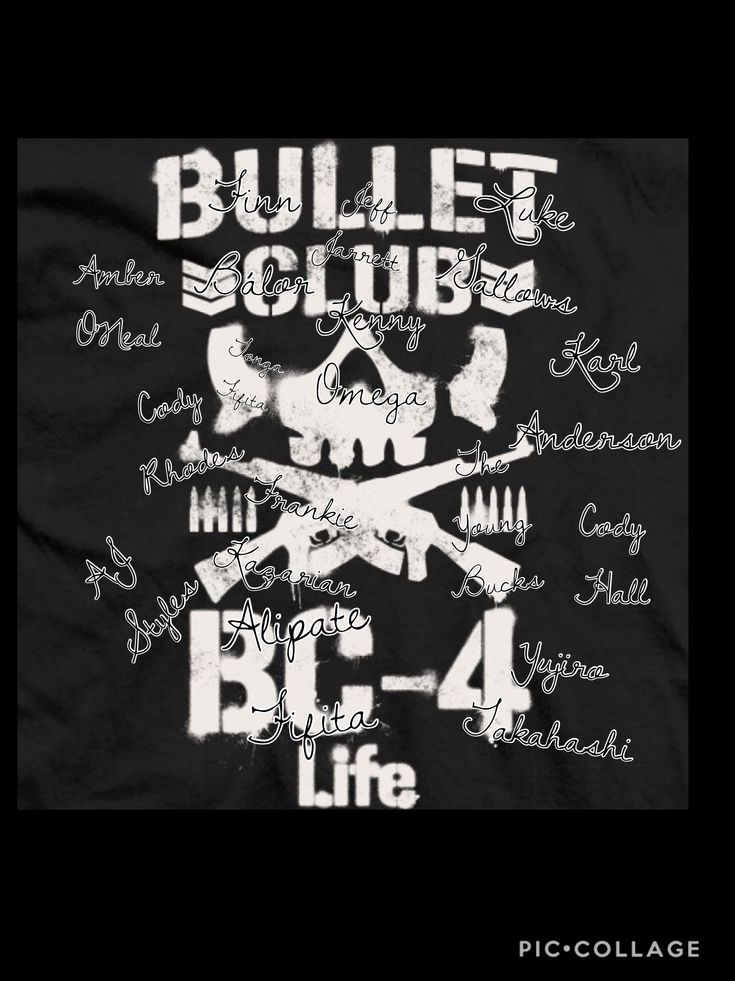 The names of the new and old Bullet Club members