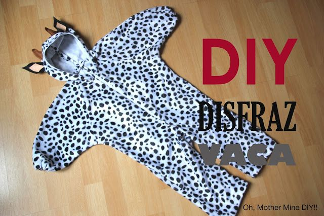 DIY Tutorial: Disfraz de vaca para niños (patrones gratis) | Oh, Mother Mine DIY!! | Bloglovin