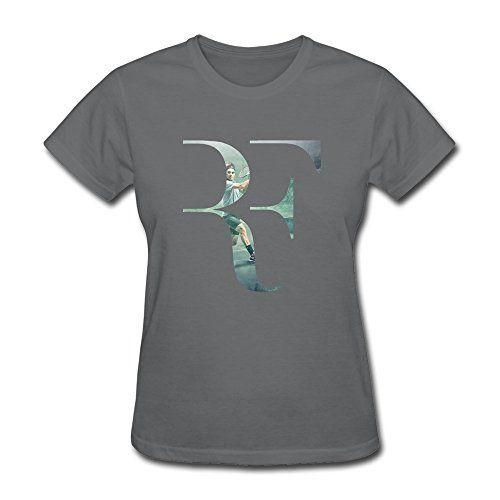 New Lifestyle Women's Roger Federer Logo Short Sleeve T Shirt