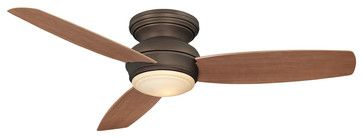 "Minka Aire F594-ORB Traditional Concept Bronze Hugger 52"" Outdoor Ceiling Fan - transitional - Ceiling Fans - ALCOVE LIGHTING"