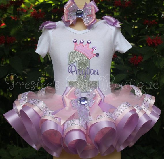 Royal Princess Birthday tutu set Perfect by Presleeschicboutique