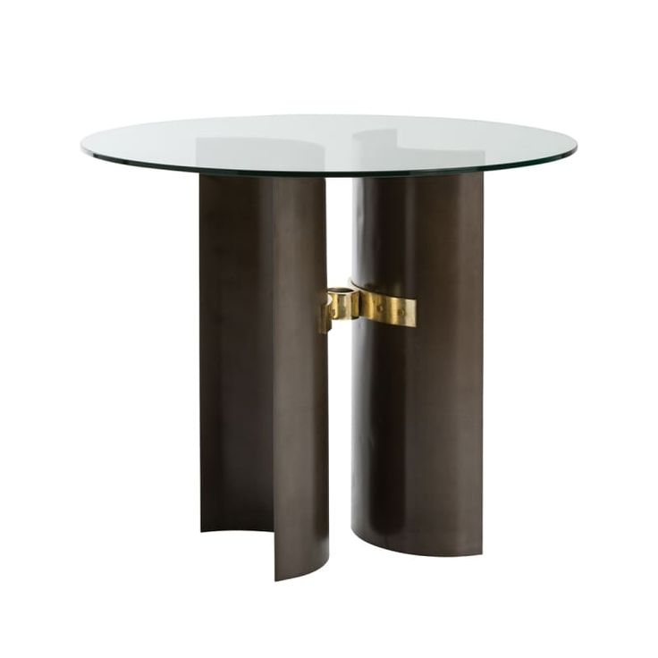 """Arteriors DD2071 Xylo 48"""" Diameter Glass Top End Table Natural Iron Furniture Tables End Tables"""