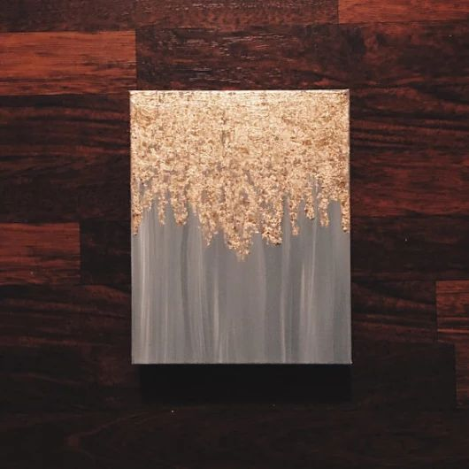 As seen in HGTV magazine gold leaf painting by PaintAndPattern