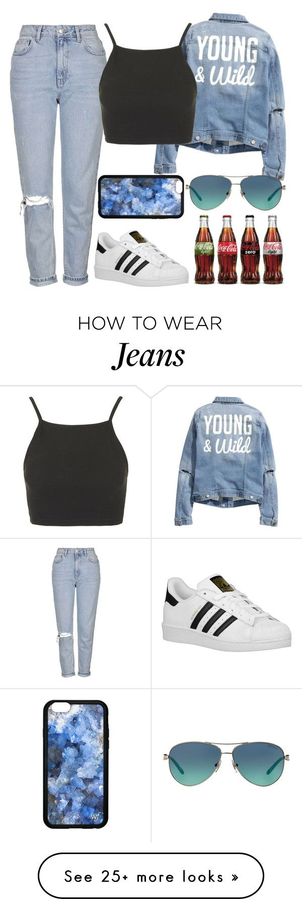 """""""Untitled#1360"""" by mihai-theodora on Polyvore featuring H&M, Topshop, adidas Originals, Tiffany & Co., women's clothing, women, female, woman, misses and juniors"""