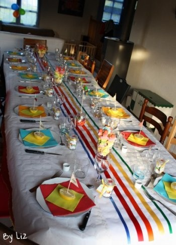 {Thème Rainbow} Une Table Toute Colorée Pour Un Baptême