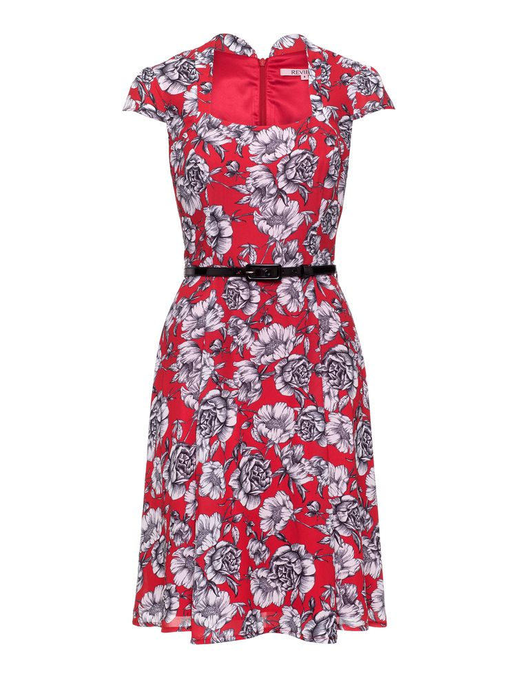 House Of Savoy Dress| Red & Multi I Dresses