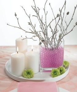 Centerpieces - use blue marbles