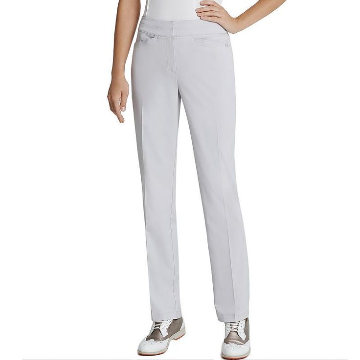 Women\u0027s Tail Classic Golf Pants, Size: 18, Light Grey