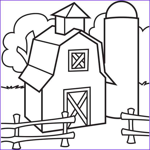 Barn Coloring Barn Templates Barn Coloring Pages At