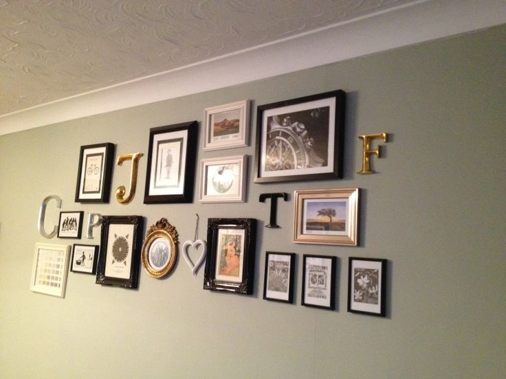 feature wall on Farrow and Ball Mizzle