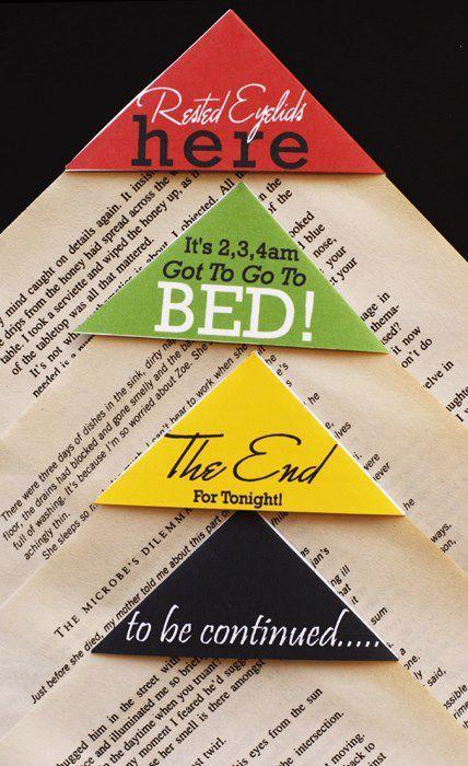 Fantabulous corner bookmarks.