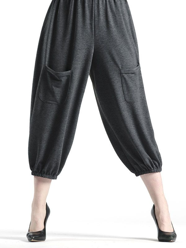 Double Pocket Fall Capri in Grey - Designed to be comfortable yet fashionable, the Fall Capri is designed to be worn with a number of basics from the Red Coral Fall 2015 Collection.  With an elastic waist that makes these an easy fit, you'll feel right at home and always look put together in these stylish bottoms.  Wear with flats, athletic shoes, or those new shooties!