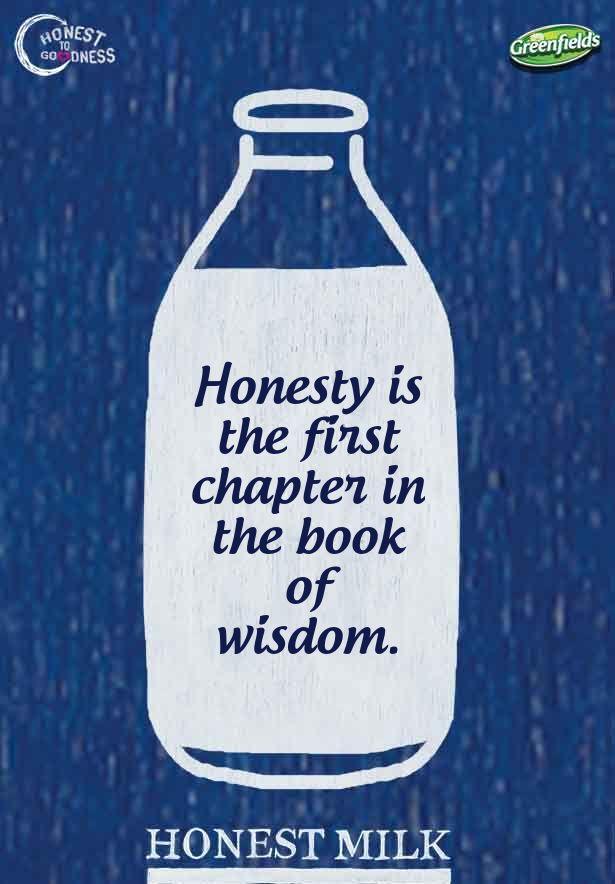 Honesty is the first chapter in the book wisdom.. Yuk ikutan buat quotes Honest to Goodness. Raih kesempatan memenangkan Samsung Galaxy S4 dan voucher belanja ratusan ribu rupiah setiap minggunya!