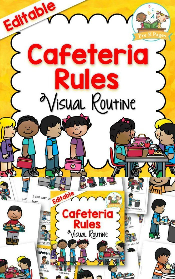 Cafeteria Visual Routine With Images Pre K Pages Homeschool