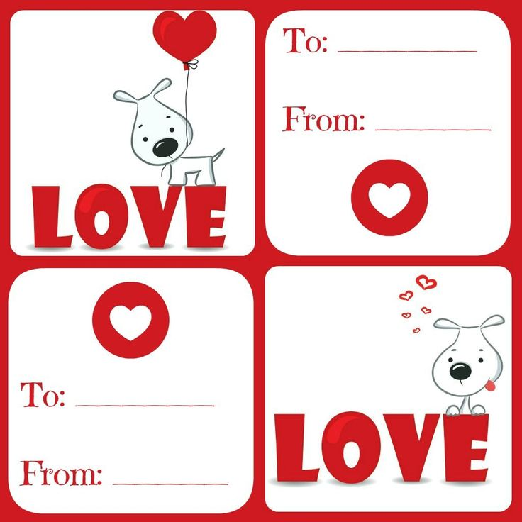 free valentines card printable for kids  daily dish with
