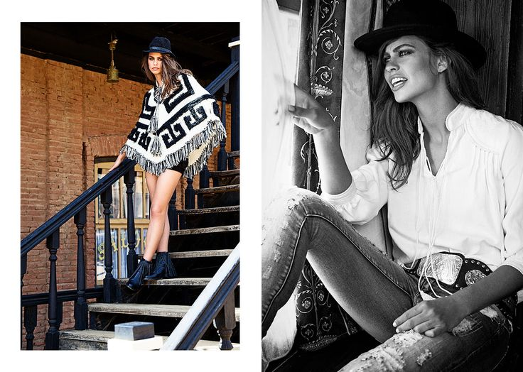Highly Preppy // Poncho lana pico B&W West Love Story coleccion