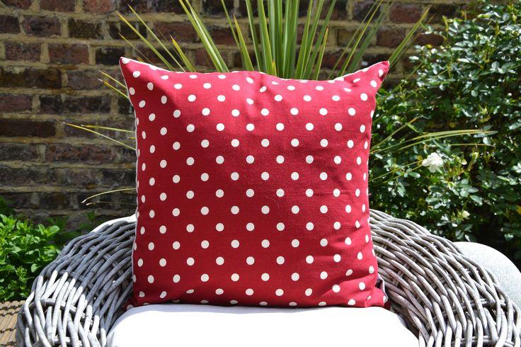 Red Polka Cushion Cover £22.00