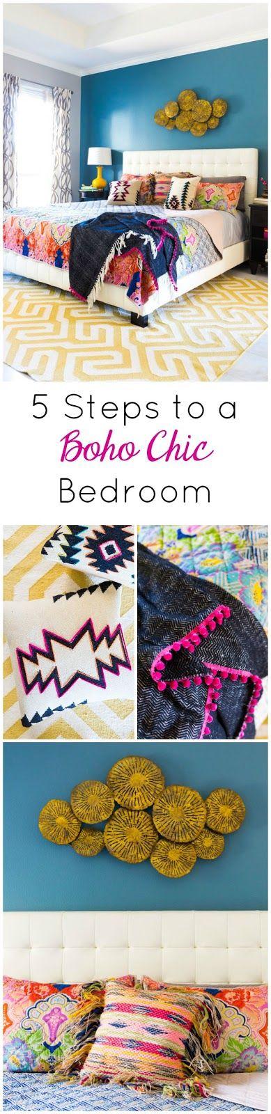 5 Steps to a Colorful Boho Bedroom